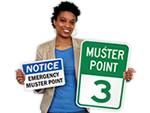 Muster Point Signs