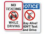 No Texting Signs