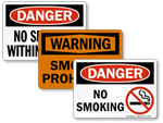No Smoking Safety Signs