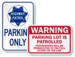 Parking Patrol Signs