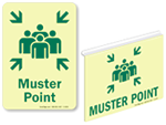 Photoluminescent Muster Point Signs
