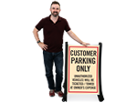 Portable Customer Parking Signs