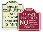 Designer Private Property Signs