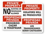 Bilingual Property Signs