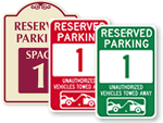 Parking Spot Signs – Quick Order