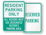 Resident Parking Signs