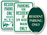 Residents' Parking Signs