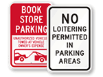 Retail Parking Lot Signs