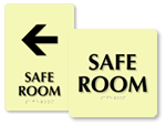 Safe Room Signs