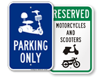 Scooter Parking Signs