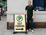 Self-Park Signs