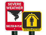 Shelter in Place Signs