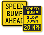 Speed Bump Signs