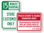 Store Parking Signs