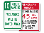 Time Limit Signs
