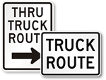 Truck Route Signs