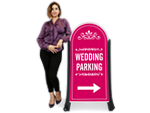 Wedding Parking Signs