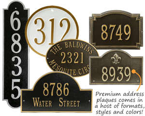 double line house number u0026 lawn plaques