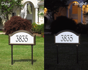 reflective address plaques