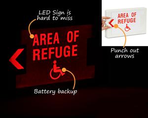 Area of refuge sign, LED