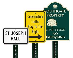 Custom metal signs