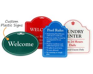 Custom outdoor plastic signs
