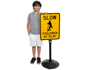 Child at Play Signs with Stand