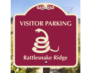 Custom visitor parking sign