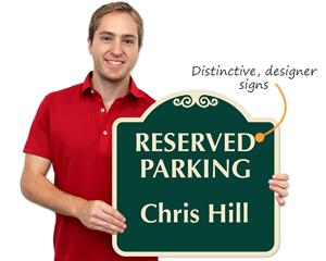Designer parking sign