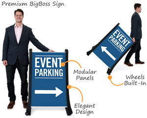 Event parking bigboss signs