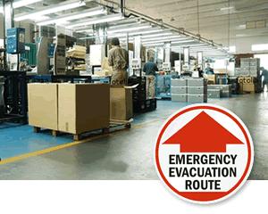 Evacuation Floor Signs & Stencils