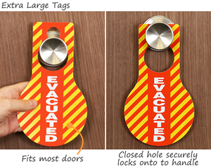 Large evacuation tags