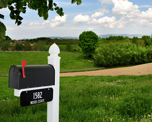 Mailbox address sign