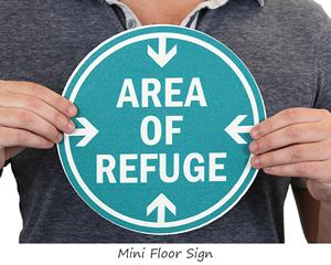 Mini area of refuge sign