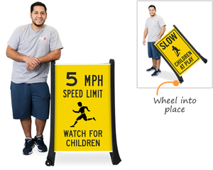 Oversized children at play sign