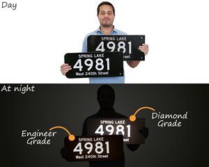 reflective address signs