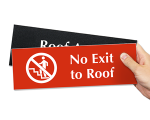 Roof Access Engraved Signs