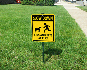 Slow Down LawnBoss Sign