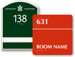 Braille Room Number Signs