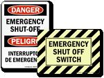 Emergency Shut Off Signs