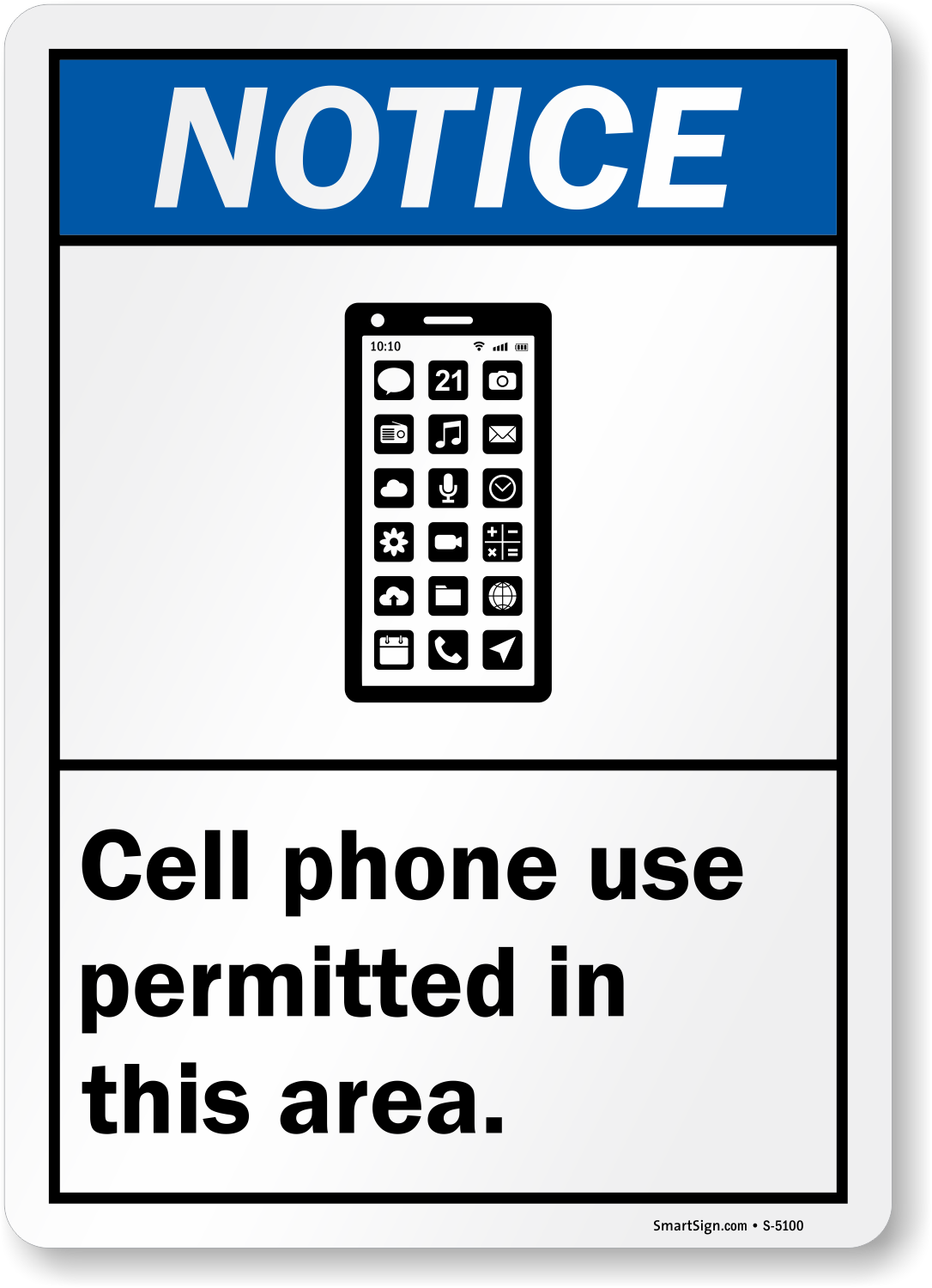 Cell Phone Use Permitted Area Sign  Notice Signs, Sku S5100. Malaysian Signs. Inspirational Signs. Trick Signs. Integral Signs. Ulcerative Colitis Signs. Alice In Wonderland Signs. Chalkboard Signs Of Stroke. Meter Board Signs
