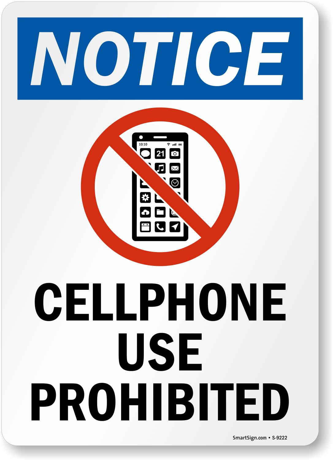 No Cell Phone Signs | Design Online | Free Shipping | SmartSign