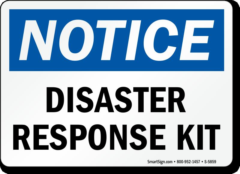 Disaster Response Kit Sign