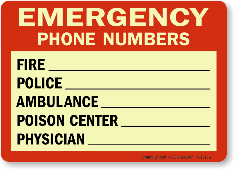 Emergency Phone Number List Template. List Templates Free Word