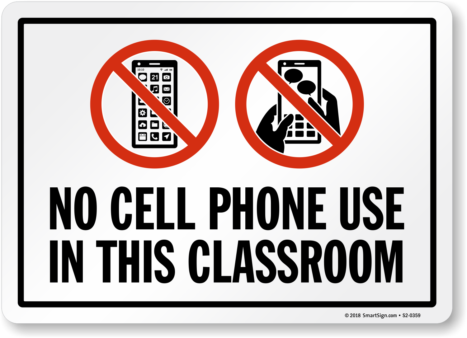 Cell Phones Prohibited Signs | SmartSign