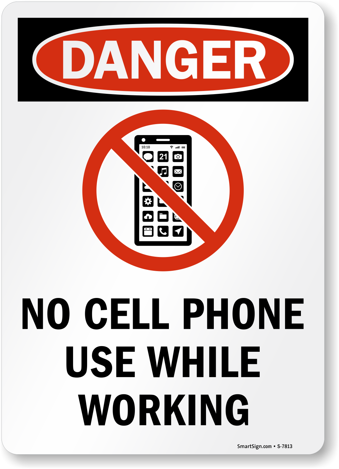 No Cell Phone Signs for Office- No Cell Phones in Office Signs