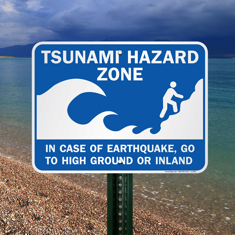 in of earthquake sign