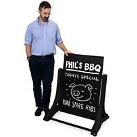 Chalkboard Style Rolling Swinger in Black