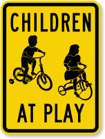 Kids Cycling Sign