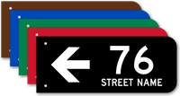 Custom Street Number And Name Arrow Sign